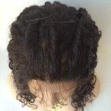 """20 """" Afro-verworrenes Haar-Spitze-Perücken #2 #1b durch maschinell hergestelltes"""