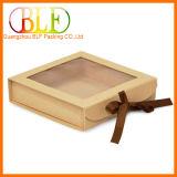 Коробка подарка с закрытием тесемки