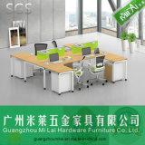 Muebles útiles profesionales ergonómicos del sitio de trabajo del ordenador de oficina de 4 asientos
