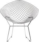 크롬 단단한 철사 우연한 의자