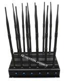 12 jammer do sinal da freqüência ultraelevada Lojack do VHF de WiFi GPS do construtor do sinal do telemóvel 2g 3G 4G das antenas e construtor completos do jammer 315MHz 433MHz 868MHz do controlo a distância