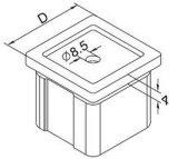 Quadratischer Handlauf-Adapter für Handlauf-Balustrade