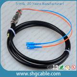 Cuerda de corrección óptica de la fibra impermeable del duplex del solo modo de Sc/Upc