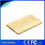 Mecanismo impulsor de madera natural del flash del USB de la tarjeta de la muestra libre