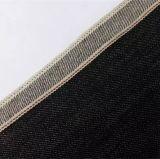 trama bianca del denim nero 13.5oz con il tessuto di cotone rosso della cimosa 10577c