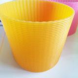 Втулка крышки чашки кремния горячего сбывания цветастая