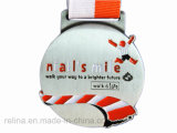 Sprot su ordinazione Marathon Race Zinc Alloy Soft Enamel Medal con Ribbon