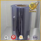 Película clara del PVC en rodillo del material plástico