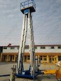 Doppelter Mast-Aluminiumlegierung-Aufzug/Luftarbeit-Plattform