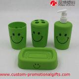Conjunto plástico al por mayor del baño del rectángulo del tejido de la cara de la sonrisa