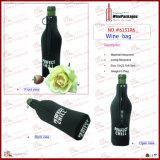 Sac simple de bouteille de vin du néoprène avec la verticale (6151R2)