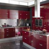 현대 빨간 래커 완성되는 부엌 찬장 대량 판매
