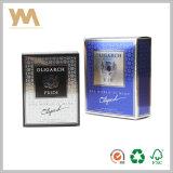 O projeto de papel brilhante o mais novo da caixa do perfume para homens