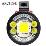 크리 사람 Xml 2 LEDs 10000 Lm 잠수 토치 재충전용 LED 플래쉬 등