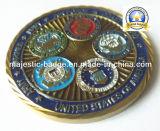 Подгонянный цинк умирает монетка плакировкой золота бросания (MJ-Coin-011)