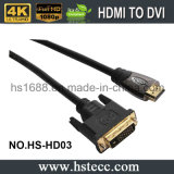 HDMI al cavo del calcolatore di DVI con il connettore placcato oro