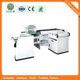 Supermarkt Retail Stainless Cash Counter mit Conveyor Belt