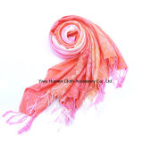 Bright Colorsの標準的なCheck Design Jacquard Scarf