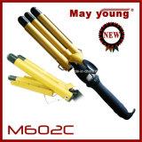 M602c bestes Preis-bequemes Griff-Entwurftourmaline-Beschichtung-Zylinder-Haar-Brennschere