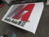Знак логоса Крытый Компании Non-Освещенный покрашенный
