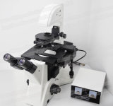 Microscopio biológico invertido Trinocular médico del instrumento FM-412
