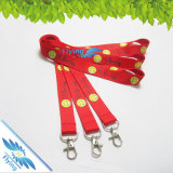 Wärme-Transfer Printing Lanyard mit Metal Hook/Lastic Buckle/Safety Klipp