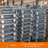 Складывая складная стальная коробка хранения ячеистой сети