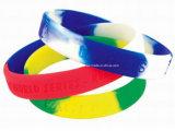 Wristband feito sob encomenda do Wristband do silicone do arco-íris barato