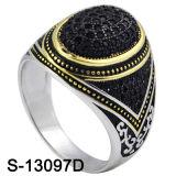 Anello d'argento degli uomini di Zirconia dell'anello dei monili 925 di modo