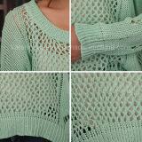 Donne surdimensionate del nemico del maglione del bordo della maglia vuota Ciao-Lo