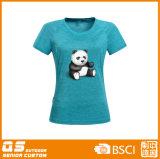 여자의 혼합 인쇄 형식 빠른 건조한 t-셔츠