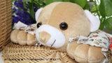 아기 곰 작풍 배럴 모양 등나무 바구니