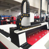 Automatische Faser-Laser-flaches Blatt-Ausschnitt-Maschine des Gewebe-500W