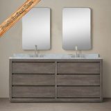 Klassische Entwurfs-festes Holz-Badezimmer-Schrank-gesetzte Badezimmer-Eitelkeit