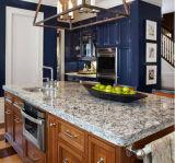 Верхняя часть тщеты ванной комнаты Countertop кухни гранита кожи тигра белая