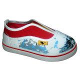 Chaussures de toile occasionnelles de type de mode d'impression neuve d'enfants (HH1613-2)