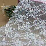 백색 나일론 스판덱스 내복과 의복을%s 자카드 직물에 의하여 길쌈되는 레이스 직물