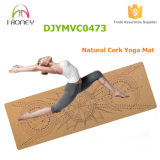 Cork van Eco de Vriendschappelijke Natuurlijke Mat van de Yoga met Douane Afgedrukte Beelden