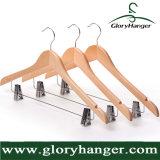 Вешалка одежд оптовой продажи ранга верхняя деревянная для вешалки мебели одежды человека с штангой (GLWH003)