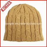 Beanie de chapeau de crochet de jacquard de réchauffeur de l'hiver