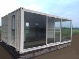 Sitio del envase modificado moderno de la paga inferior casa prefabricados/prefabricados de la sol/