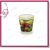1.5oz Sublimation Custom Printed Wine Glass avec Golden Rim