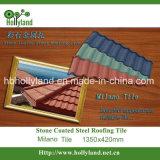 Azulejo de material para techos revestido de piedra del metal (tipo de Milano)