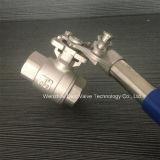 Válvula de bola 2PC restablecimiento automático
