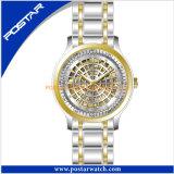 高品質のステンレス鋼の腕時計の防水水晶腕時計