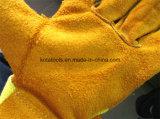 Guanto di cuoio poco costoso dei guanti di cuoio industriali del lavoro manuale