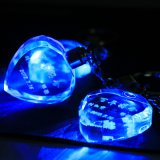 LED Light Wholesale Crystal Glass Keychain para presente (KS61100)
