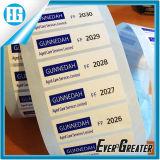 Großhandelsdatenträger-Produkt-Beschreibungs-Kennsatz-Getränkeflaschen-Kennsatz