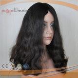 Schwarze Farben-Hand gebundene volle Spitze-Jungfrau Remy Haar-Frauen-Perücke