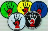 Die gestickte Andenken ändert kühle Medaillen-kundenspezifische Schule-Abzeichen-Änderung- am Objektprogrammstickerei
